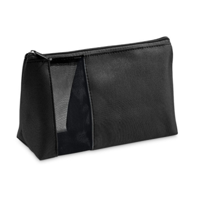 Image of Mesh and Microfibre Cosmetic Bag