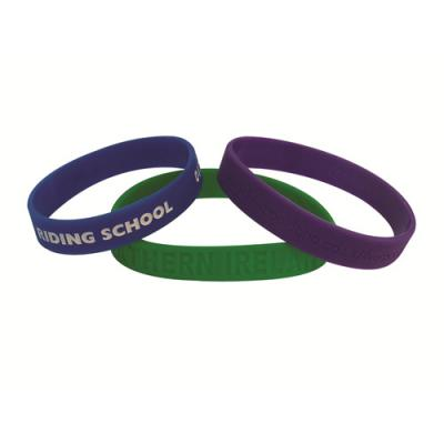 Image of Debossed Silicon Wristbands