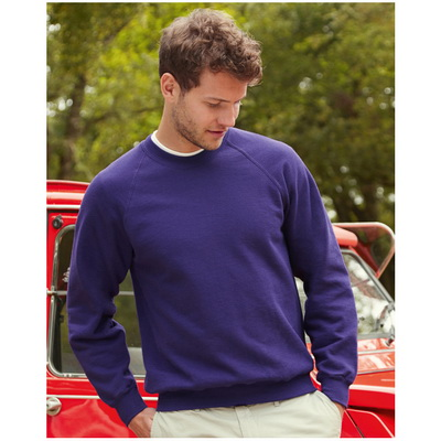 Image of Fruit of The Loom Raglan Sleeve Sweatshirt